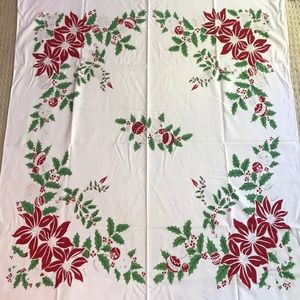 Vintage Christmas Holiday Tablecloth - much loved